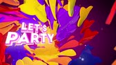ünneplés : Lets Party fiesta background with luma matte Stock mozgókép