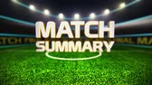 摘要 : Match Summary introduction on football field 影像素材