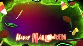 heksenketel : Happy Halloween achtergrond Stockvideo