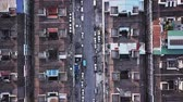 birdseye : Top view of residential area Stock Footage