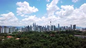 lumpur : Aerial view of city in Kuala Lumpur Stock Footage