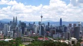 destinations : Aerial view of city in Kuala Lumpur Stock Footage