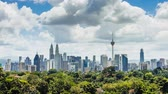 high rise buildings : Aerial view of city in Kuala Lumpur Stock Footage