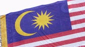 марш : Malaysian flag on Malaysian Independence Day Стоковые видеозаписи