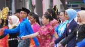 independent : Participants marching on Malaysian Independence Day