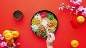 salse : Preparing for yee sang