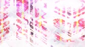 kompliziert : Abstract Bright Contrasting White Lines on Pink Backdrop - 4K Seamless Loop Motion Background Animation