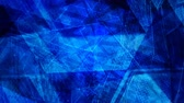 apaisant : Abstract Geometric Dark Blue Spinning Shapes and Lines - 4K Seamless Loop Motion Background Animation