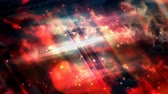 パルス : Blurred Clouds with Fast White Particles and Rotating Light Beams - 4K Seamless Loop Motion Background Animation