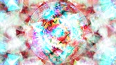 cyan : Abstract Rotating Star in Circle with Blurred Pink and White Shapes - 4K Seamless Loop Motion Background Animation