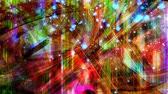 魅惑的な : Beautiful Rainbow Stars and Hue Cycle on Abstract Geometric Backdrop - 4K Seamless Loop Motion Background Animation