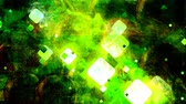 квадраты : Bright Green Square Lights and Dark Texture Backdrop - 4K Seamless Loop Motion Background Animation Стоковые видеозаписи