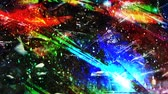 туманность : Dark Multicolored Chaotic Geometry in Outer Space with Stars - 4K Seamless Loop Motion Background Animation Стоковые видеозаписи