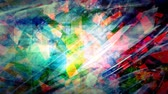 Abstract Glistening Geometric Crystals and Rainbow Colors - 4K Seamless Loop Motion Background Animation