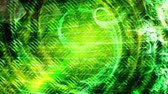 Green Swirling Particles and Shining Light Beams on Texture - 4K Seamless Loop Motion Background Animation Wideo