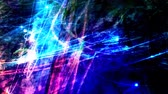 繊維 : Gorgeous Digital Blue Glowing Fiber Optic Data Cables in Outer Space - 4K Seamless Loop Motion Background Animation