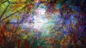 Multicolored Light and Pattern Shines on Abstract Scene - 4K Seamless Loop Motion Background Animation