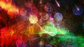 Bright Vivid Colors on Starry Sky Backdrop with Bokeh - 4K Seamless Loop Motion Background Animation