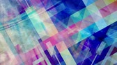 Rotating Pulsating Pastel Geometric Rectangles with Blue Backdrop - 4K Seamless Loop Motion Background Animation