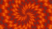 минимализм : Simple Orange and Gray Interleaved Spinning Spiral Tunnel Pattern - 4K Seamless Loop Motion Background Animation Стоковые видеозаписи