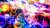 Colorful Rainbow Spiral and Frozen Unmoving Thunderbolt - 4K Seamless Loop Motion Background Animation