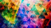 Rotating Colorful Abstract Geometric Tessellated Triangle Pattern - 4K Seamless Loop Motion Background Animation Wideo