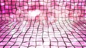ゆがんだ : Warped Pink Tiles with Bright Falling Particles - 4K Seamless Loop Motion Background Animation