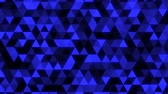 cyan : Abstract Glowing Blue Triangle Tessellation - 4K Seamless Loop Motion Background Animation