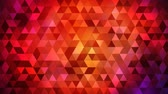arte abstrata : Beautiful Fall Autumn Triangle Tessellated Pattern - 4K Seamless Loop Motion Background Animation