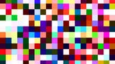 piksel : Random Rainbow Pixel Tile Square Dancefloor - 4K Seamless Loop Motion Background Animation Stok Video