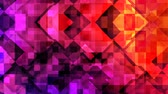 Abstract Rising Geometric Square Shapes and Colorful Line Pattern - 4K Seamless Loop Motion Background Animation