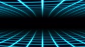 Retro Wavy Grid 80s Synthwave Neon Net Waves in Aesthetic Vaporwave - 4K Seamless Loop Motion Background Animation