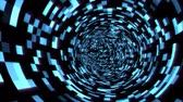 Fly in Digital Tunnel in Cyberspace Encrypted Network Information - 4K Seamless Loop Motion Background Animation