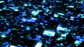 Futuristic Digital Data Stream Flow in Blue Cyberspace Network - 4K Seamless Loop Motion Background Animation
