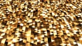 Sparkling Black and Gold Abstract Triangle Shape Pattern Glowing - 4K Seamless Loop Motion Background Animation