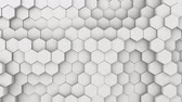 okładka : Abstract Hexagon Geometric Intro. Animated Surface Loop footage. Light bright and clean hexagonal grid pattern Background, randomly waving motion in pure white wall. Seamless loop 4K UHD FullHD.