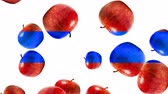 morango : Abstract colorful animation - Apple color mix background. - Apples rotating and falling down. Stock Footage