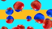 nonsense : Abstract colorful animation - Apple color mix background. - Apples rotating and falling down. Stock Footage