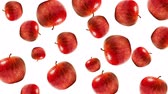 brochura : Abstract colorful animation - Apple white background. Apples rotating - seamless loop.