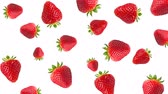 nonsense : Abstract colorful animation - strawberry color background. Strawberry rotating - seamless loop.
