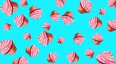 nonsense : Abstract colorful animation - Cupcakes background. Cupcakes rotating - seamless loop. Stock Footage