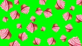 nonsense : Abstract colorful animation - pink cupcakes background. Cupcakes rotating - seamless loop. Stock Footage