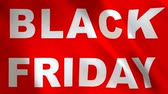 weekdays : Black Friday Sale - looped animation background. Online shopping banner - seamless loop.. Stock Footage