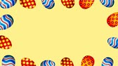 paasei : Easter eggs border frame. Easter eggs rotating - seamless loopable colorful animation.