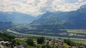View on the valley in Triesenberg, Liechtenstein Vídeos