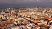 성당 : Panoramic aerial view of Riga old town during winter Christmas day in Latvia 무비클립