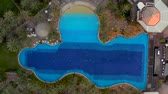 gran canarias : Aerial pool view at the luxury resort Archivo de Video