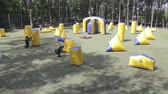 Сингапур : June 2019, Vinnitsa, Ukraine - Paintball Championship. About sports, fun, action, war, fighting, sports, paint, race, tournament, playground, weapons, adrenaline, game