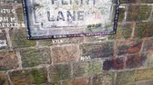 mýtus : Liverpool, UK - October 31 2019: Penny Lane road sign. A popular tourist destination in Liverpool, UK Dostupné videozáznamy