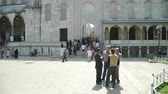 ahmet : ISTANBUL, TURKEY, JUNE 3 2017: Tourists near Sultanahmet Mosque